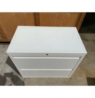 2 drawer white side filer